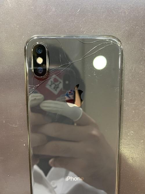 iPhoneX カメラレンズ交換後