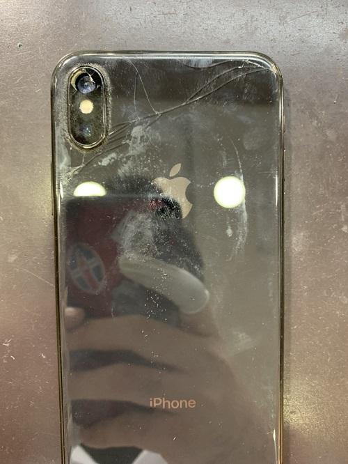 iPhoneX カメラレンズ交換前