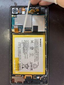 エクスペリアZ4  バッテリー修理