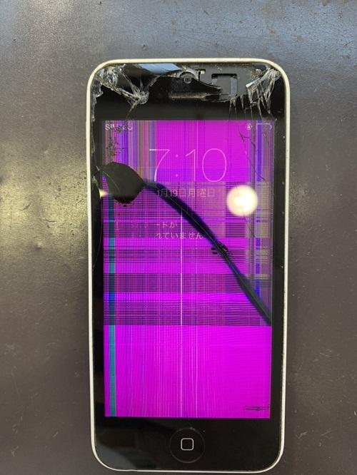 iPhone5c 画面交換