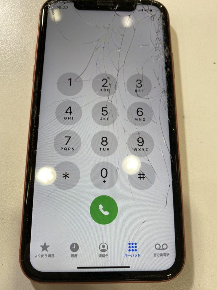 iPhone XR 画面割れ